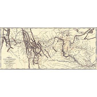 Map Of The Lewis And Clark American Expedition 1804-1806 Published 1814 In History Of The Expedition Under The Command Of Captains Lewis And Clark Etc By Nicholas Biddle And Edited By Paul Allen Poste