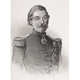 Omar Pasha Latas 1806-1871 Ottoman General From The Book Gallery Of Historical Portraits Published C1880 PosterPrint