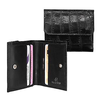 Dr Amsterdam Billfold wallet Croco Black