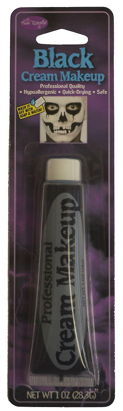 Carded Make Up Cream Fancy Dress Accessory Black White Halloween