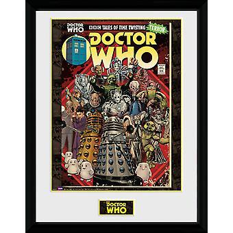 Doctor Who méchants Comic encadrée Collector Print