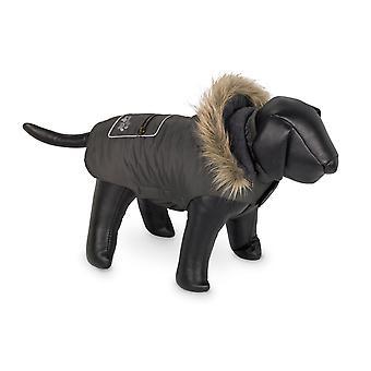 Nobby Iffi Fleece Lined Dog Coat Khaki With Hood 26cm