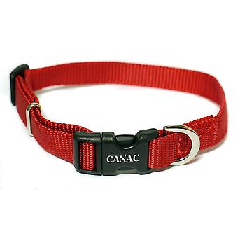 CANAC verstelbare kraag 25mmx40 - 60cm rood
