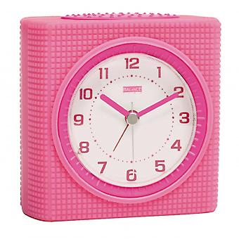 Balance Quartz Alarm Clock Analogue Pink/White