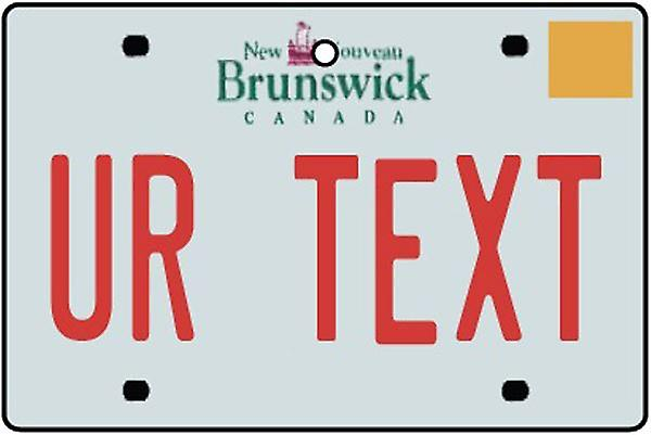Personalised New Brunswick Numberplate Car Air Freshener
