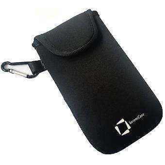 InventCase neopreen Slagvaste beschermende etui gevaldekking van zak met Velcro sluiting en Aluminium karabijnhaak voor Xiaomi Mi Note 2 - zwart
