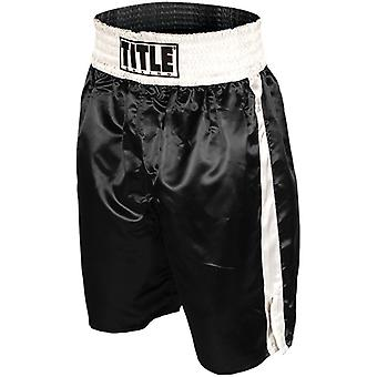 Title Professional Boxing Trunks - Black/White