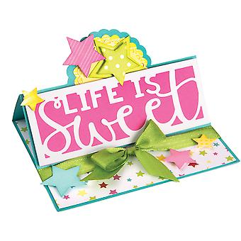 Sizzix Thinlits stirbt durch Stephanie Barnard 4/Pkg-Grenze Worte 661838