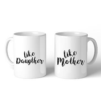 Als dochter als moeder wit moeder dochter bijpassende mok moeder geschenken