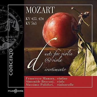 W.a. Mozart - Mozart: Duetter for Violin & Viola; Divertimento [CD] USA importerer
