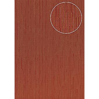 Noble University wallpaper Atlas COL-794-7 non-woven wallpaper smooth with stripes shimmering red brown red wine red 5.33 m2