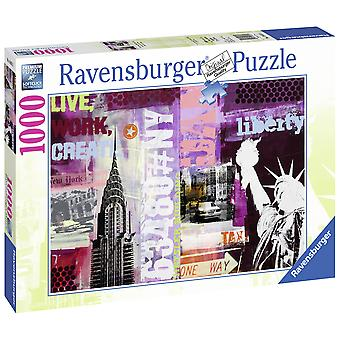 Ravensburger Puzzle 1000 Piezas Collage New York (Toys , Boardgames , Puzzles)