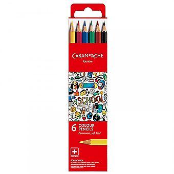 Caran D'Ache Geneve kleur potloden 6 Pack