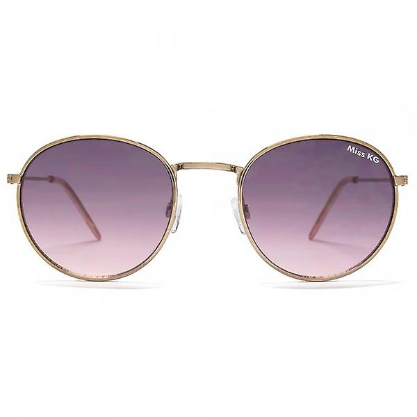 Miss KG Metal Round Sunglasses In Pale Gold