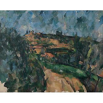 Paul Cezanne - Bend Of The Road Poster Print Giclee