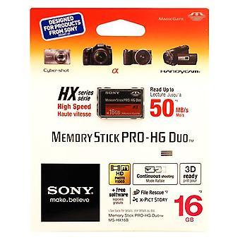 SONY 16 ГБ Memory Stick PRO-HG Duo - HX Series - 50 МБИТ/с.