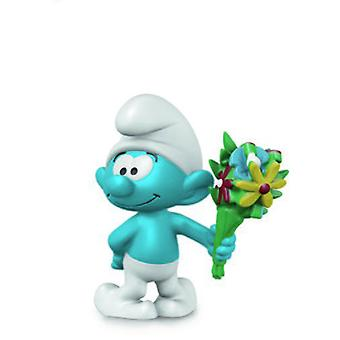 Schleich Smurf with bouquet (Toys , Dolls And Accesories , Miniature Toys , Mini Figures)