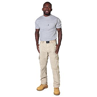 Men's Cargo Trousers with belt - Beige Black cargo pants fashion trousers men's