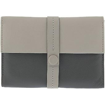 Dents Block Colour Passport Holder - Off White/Grey