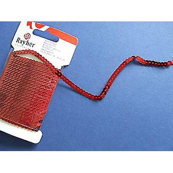 Red Sequin String - 3m of Strung Sequins | Sequin Craft Supplies