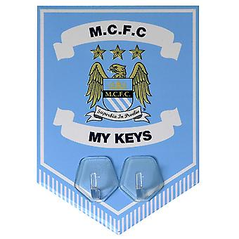 Manchester City FC Official Football Crest Key Holder Pennant