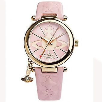 Vivienne Westwood Vivienne Westwood Vv006pkpk Orb Ii Gold & Pink Leather Ladies Watch