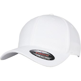 Flexfit 3D Hexagon Jersey Cap - weiß