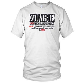 Zombie Definition Horror Kids T Shirt