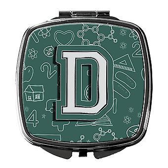Carolines Treasures  CJ2010-DSCM Letter D Back to School Initial Compact Mirror