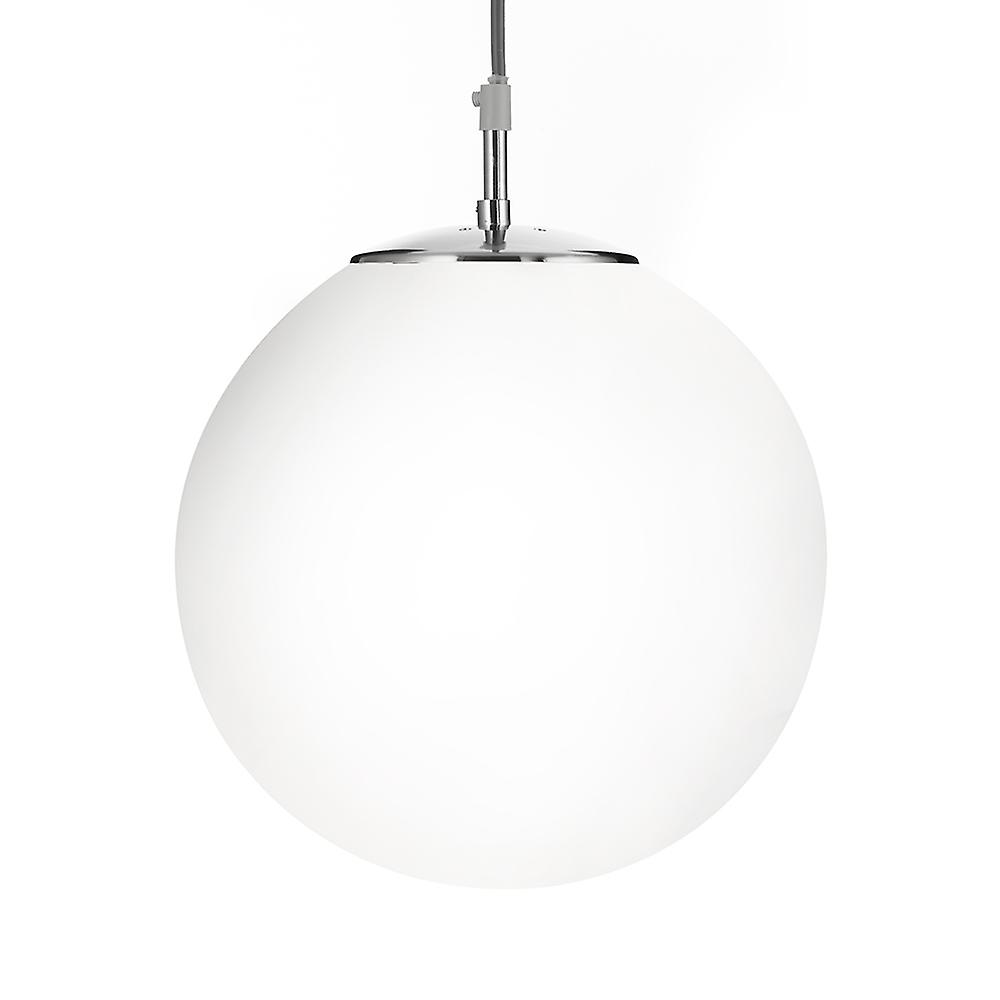 Searchlight 6077 Atom 30cm Shiny Opal Ball Ceiling Light