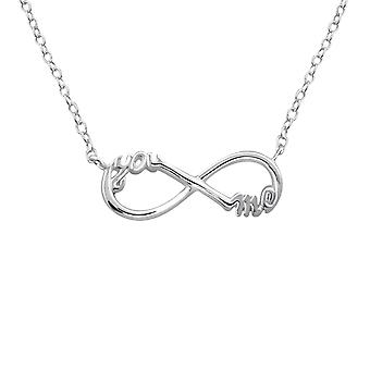 You And Me Infinity Inline - 925 Sterling Silver Plain Necklaces - W20701X