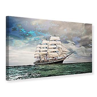Canvas Print Old Sailboat