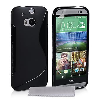 Caseflex HTC One M8 Silicone Gel S-Line Case - Black