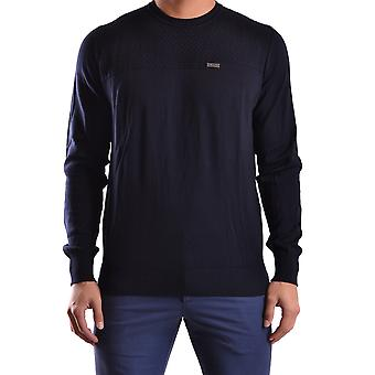 Bikkembergs men MCBI042040O Blau cotton sweater