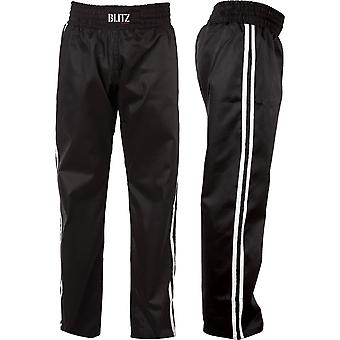 Blitz Sports Classic Polycotton Full Contact Trousers - Black White