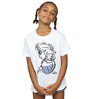 Disney Girls Frozen Elsa Sketch Mono T-Shirt