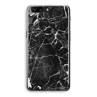 OnePlus 5 Transparant Case - Black Marble 2