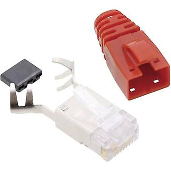 BEL Stewart Connectors SS39RTE SS39RTE RJ45 Connector CAT 6 8P8C RJ45 Plug, straight Red