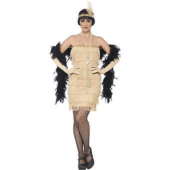 Costumi donna Flapper charleston dress oro 50'