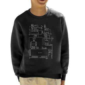 Sega Genesis Computer Schematic Kid's Sweatshirt