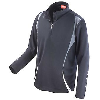 Spiro Mens Colours Trial Long Sleeve Sports Fitness Training Lightweight Top