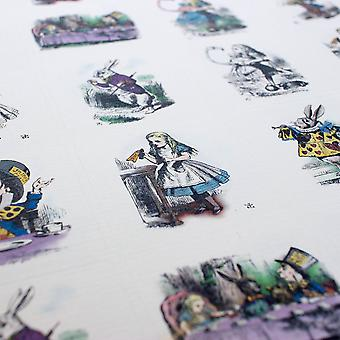 Colour / Black and White Mixed ALICE IN WONDERLAND STICKER SHEET 35 Stickers