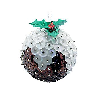 Pinflair paillet & Pin Christmas Pudding Briks ornamenter - gør 2