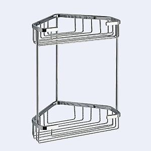Complements Gedy Double Corner Basket 2481-13