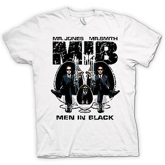 Mens T-shirt - MIB - Mr Jones & Mr Smith - UFO - Alien - Movie