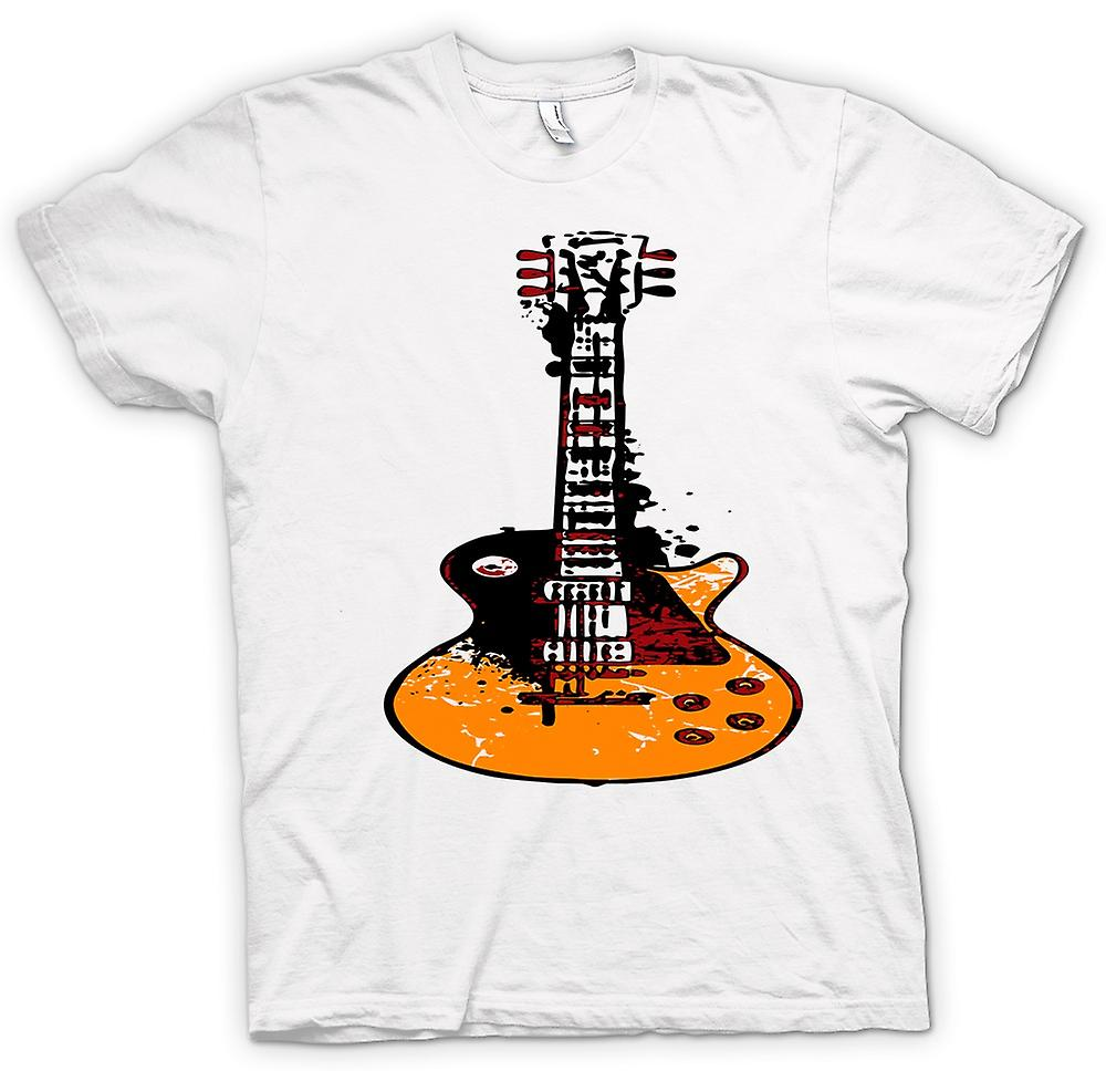 Mens t-shirt - Gibson Les Paul chitarra Rock Blues - Musica