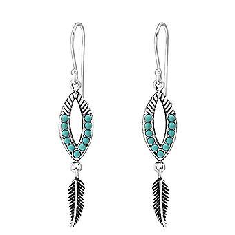 Ethnic - 925 Sterling Silver Pearl Earrings