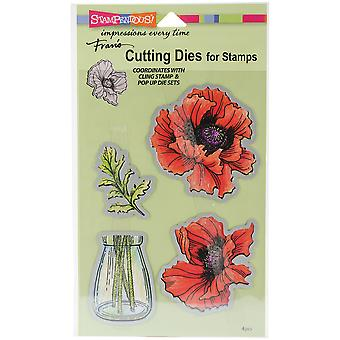 Stampendous Dies-Pretty Poppies