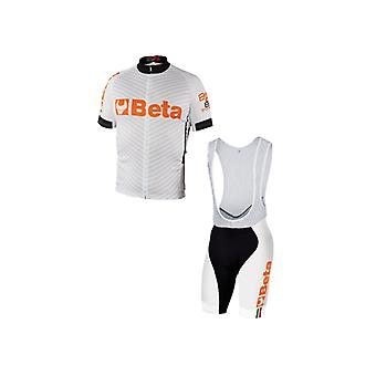 9543 W/X/L Beta X/large Biking Jersey And Bib Shorts White Breathable Fabric