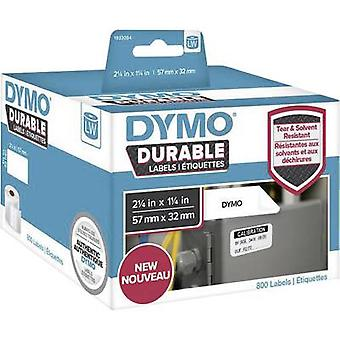 DYMO 1933084 Label roll 57 x 32 mm PE film White 800 pc(s) Permanent All-purpose labels, Address labels